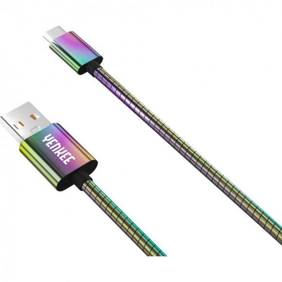YCU 251 Ocel. Micro USB kabel /1m YENKEE
