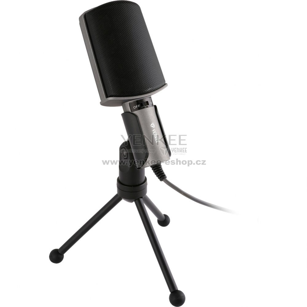 50032401c YMC 1020GY Stolní mikrofon k PC YENKEE : Yenkee-eshop.cz