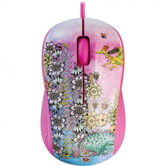 YMS 1020PK Myš USB FANTASY růžová YENKEE